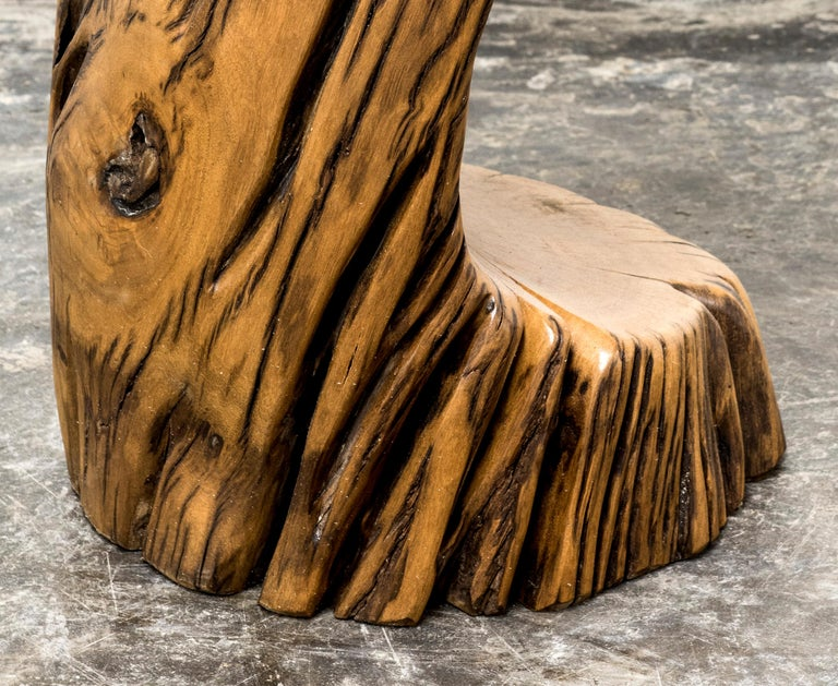 Post-Modern Itaú Stool in Reclaimed Pequi Wood by Hugo França For Sale