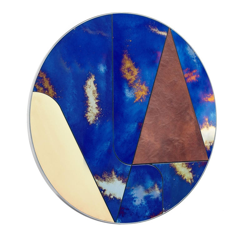 """Itinera Insula Vulcano  """"Itinera"""" is the Latin word for journeys. These superb mirrors invite to run along their surface to discover the extremely finished materials that design lines, geometries, routes. The baroque Antique Mirrors mirrored"""
