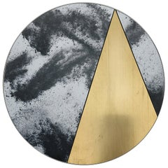 Itinera Res Lunare II Mirror by Atlasproject 21th Century Brushed Brass