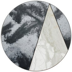 Itinera Res Lunare III Mirror by Atlasproject White Calacatta Gold