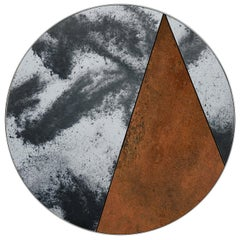 Itinera Res Lunare IV Wall Mirror by Atlasproject Corten Steel