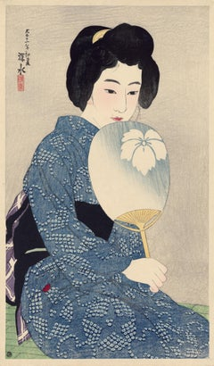 "Japanese Beauty with Fan (""Summer Kimono"")"