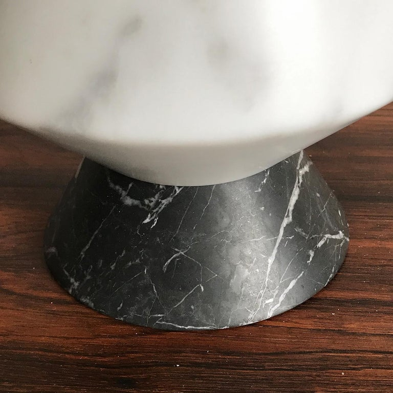 Italian iTotem Marble and Wood #1 For Sale