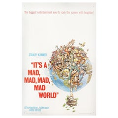 """It's a Mad, Mad, Mad, Mad World"" 1963 U.S. One Sheet Film Poster"