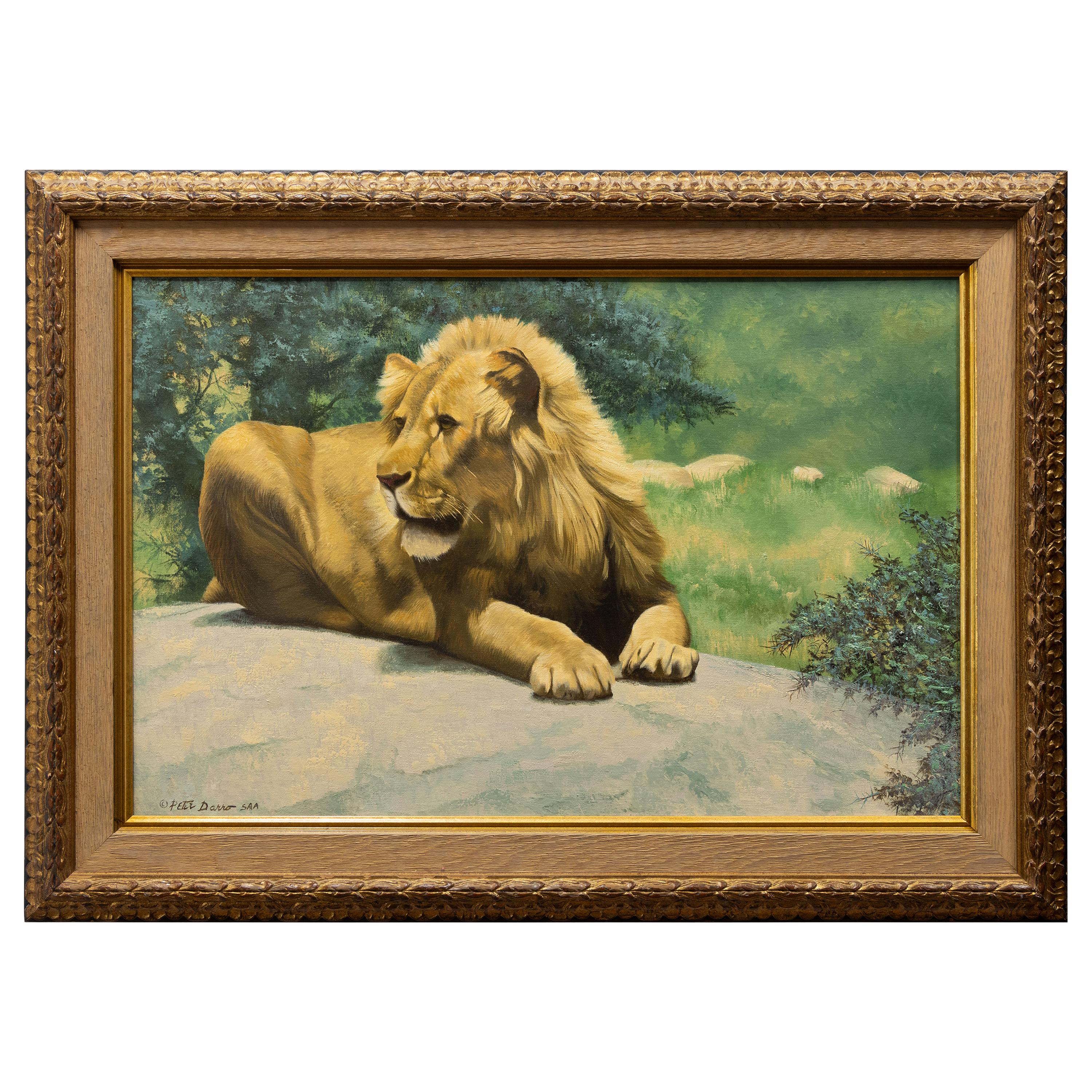 """""""It's Good to be King"""" Original Oil by Peter Darro"""