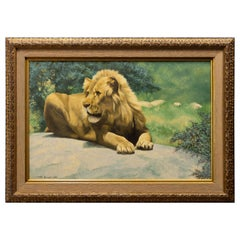 """It's Good to be King"" Original Oil by Peter Darro"