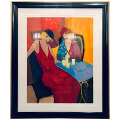 Itzchack Tarkay Serigraph Signed and Numbered in Fine Frame