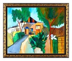 Itzchak Tarkay Large Original Oil Painting On Canvas Signed Landscape Authentic