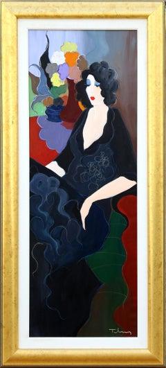 Woman Lounging, Large Painting by Itzchak Tarkay