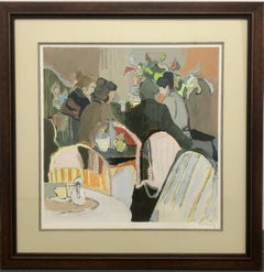 Afternoon Tea Color lithograph