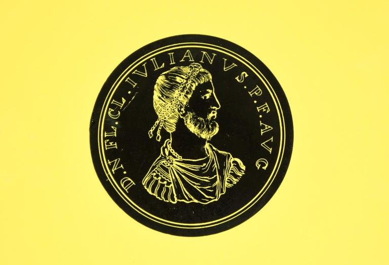Italian Iulianus Plate, Roman Emperors, by P. Fornasetti, 1960s For Sale
