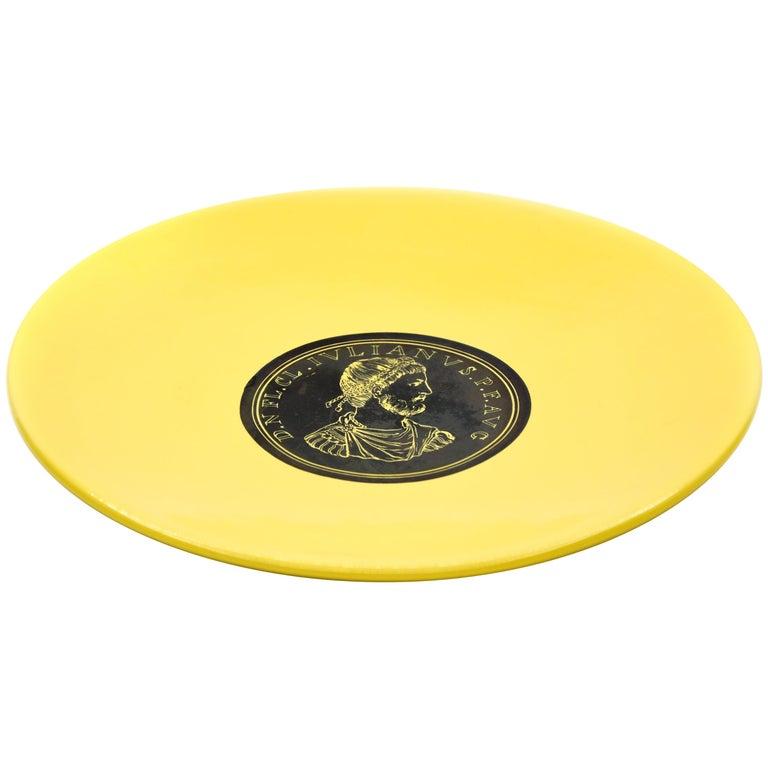 Iulianus Plate, Roman Emperors, by P. Fornasetti, 1960s For Sale