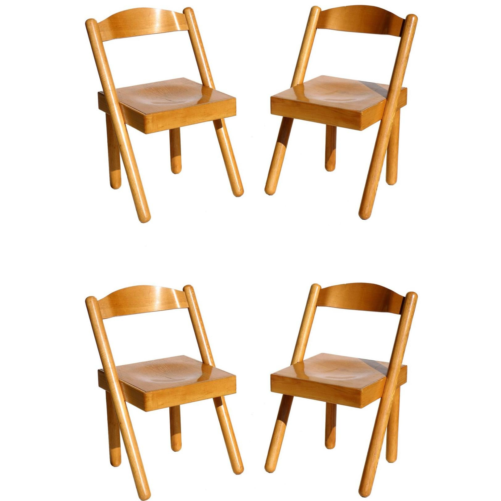 """""""Iva"""" by R. Pamio & Renato Toso for Stilwood Italian Design Set of 4 Chairs"""