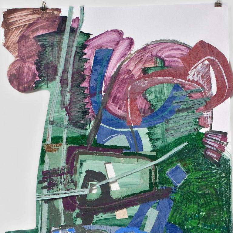 Man 3 - Contemporary Mixed Media Art by Iva Gueorguieva