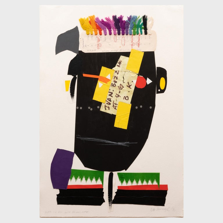 African with Brian's Note - Mixed Media Art by Ivan Chermayeff