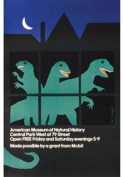 American Museum of Natural History Dinosaur Poster
