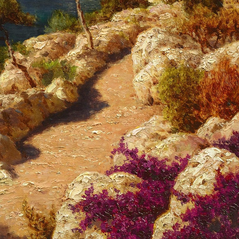 Capri - Brown Landscape Painting by Ivan Fedorovich Choultse