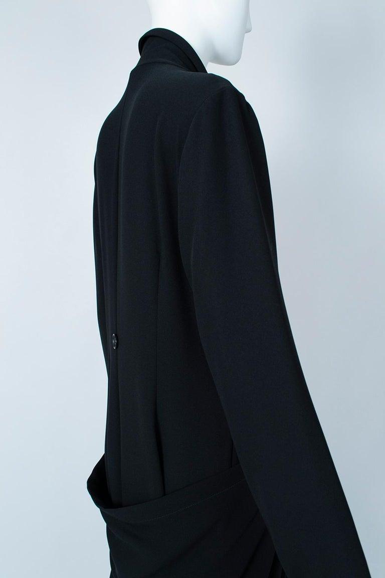 Ivan Grundahl Black Avant Garde Wrapping Draped Trench Coat – Eu 40 (Med), 1990s For Sale 4