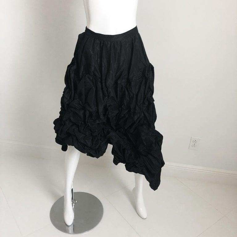 Ivan Grundahl Wire Frame Skirt Black Modernist Sculptural Sz 40 For Sale 6