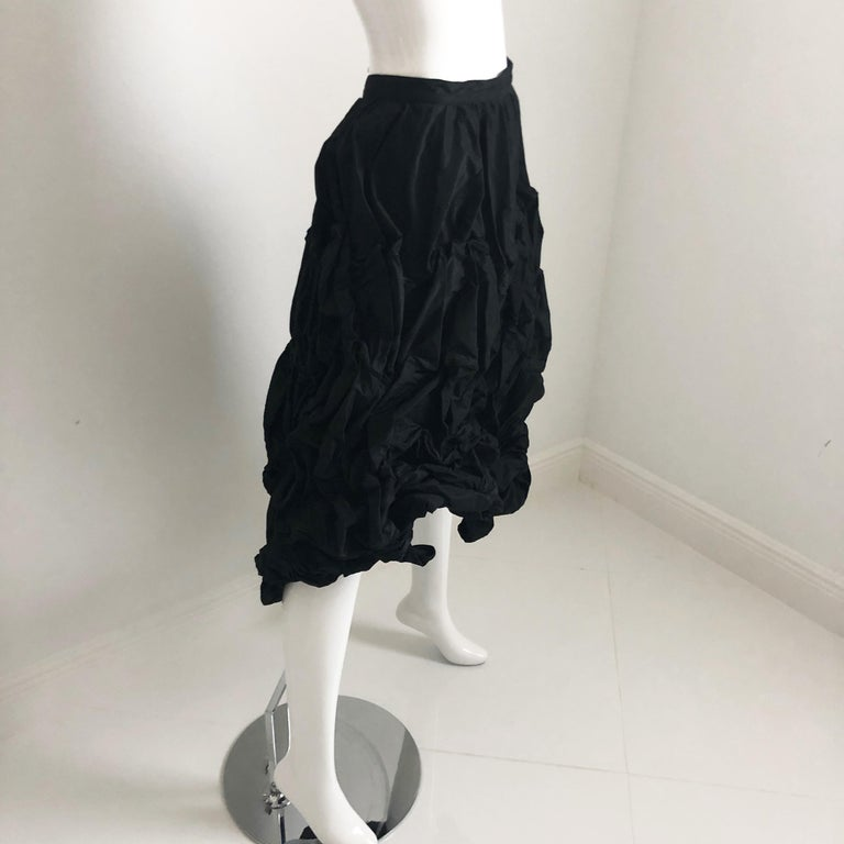 Ivan Grundahl Wire Frame Skirt Black Modernist Sculptural Sz 40 For Sale 7