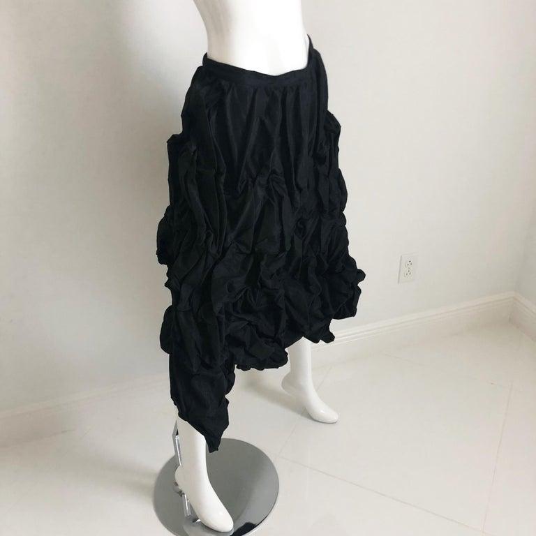Women's Ivan Grundahl Wire Frame Skirt Black Modernist Sculptural Sz 40 For Sale