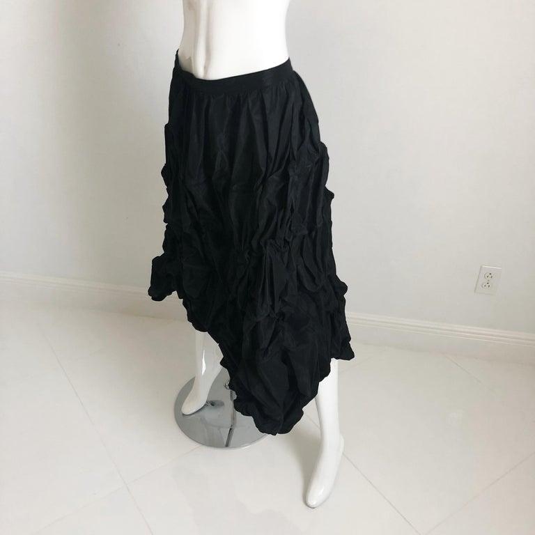 Ivan Grundahl Wire Frame Skirt Black Modernist Sculptural Sz 40 For Sale 1
