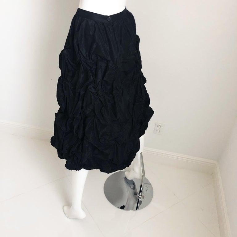 Ivan Grundahl Wire Frame Skirt Black Modernist Sculptural Sz 40 For Sale 2