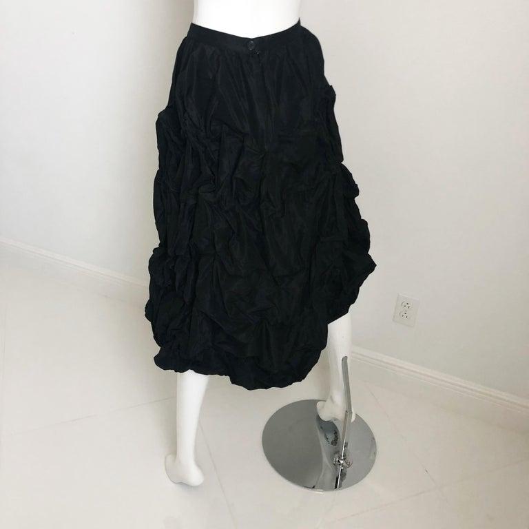 Ivan Grundahl Wire Frame Skirt Black Modernist Sculptural Sz 40 For Sale 3