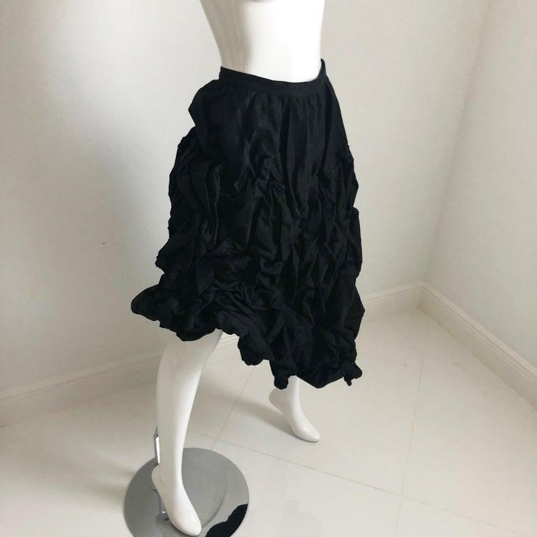 Ivan Grundahl Wire Frame Skirt Black Modernist Sculptural Sz 40 For Sale 5