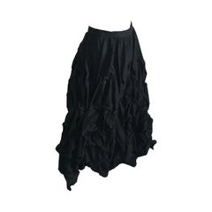 Ivan Grundahl Wire Frame Skirt Black Modernist Sculptural Sz 40