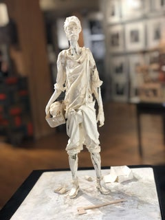 David - Highly Detailed Paper Sculpture of David with the Head of Goliath