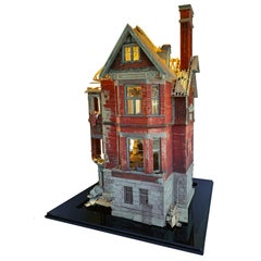 The Redpath Mansion - Highly Detailed Scale Model Sculpture, Crumbling Building
