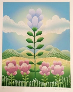 Big Flower - 1990s - Ivan Rabuzin - Serigraph - Contemporary
