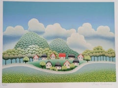 Country Town - 1990s - Ivan Rabuzin - Serigraph - Contemporary