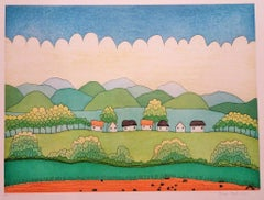 Happy Village - 1990s - Ivan Rabuzin - Lithograph - Contemporary