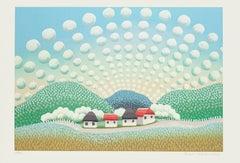 Happy Village - Original Lithograph by I. Rabuzin - 1990s