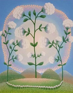 White Flowers - 1990s - Ivan Rabuzin - Screen Print - Contemporary