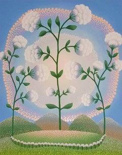 White Flowers - 1990s - Ivan Rabuzin - Serigraph - Contemporary