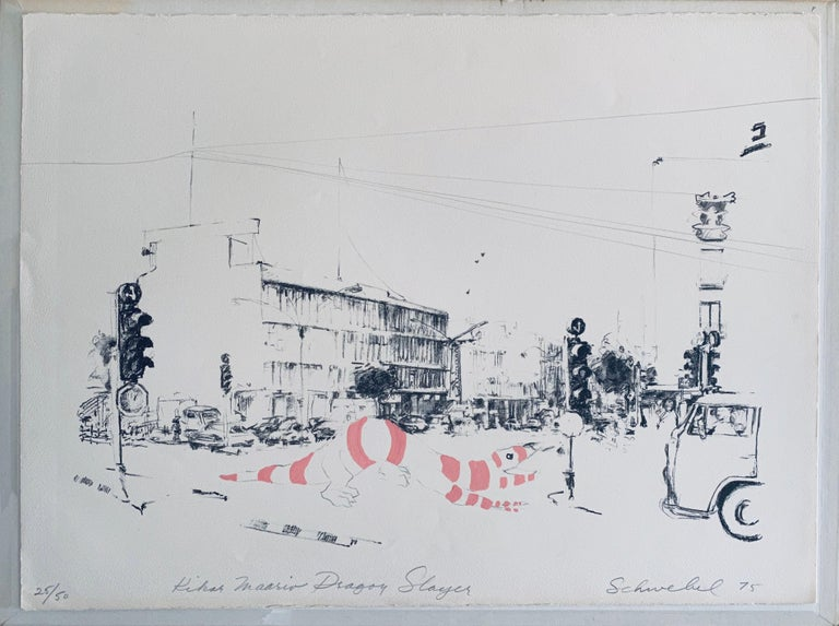Hand Painted Lithograph