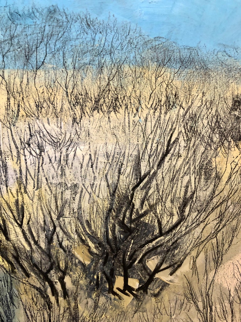 Jerusalem Modernist Landscape Oil Painting Israeli Bezalel Artist, Judaica Art For Sale 7