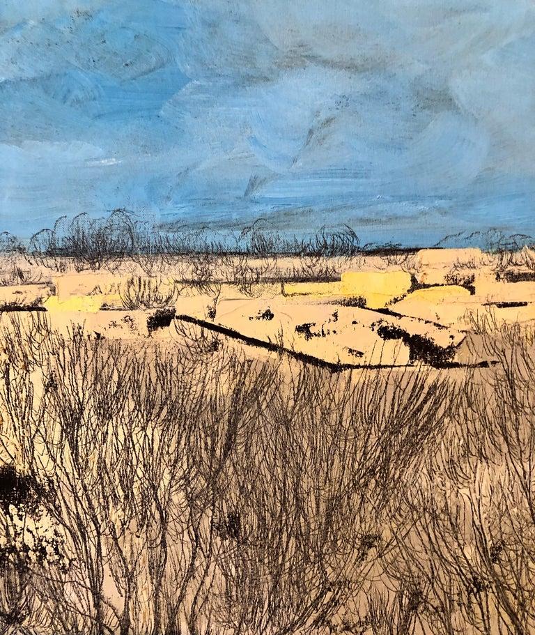 Jerusalem Modernist Landscape Oil Painting Israeli Bezalel Artist, Judaica Art For Sale 5