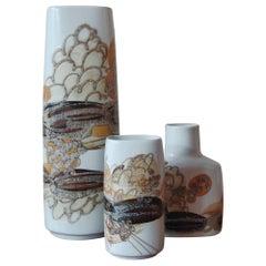 Ivan Weiss Scandinavian Ceramic Vases Set for Royal Copenhagen, 1960s