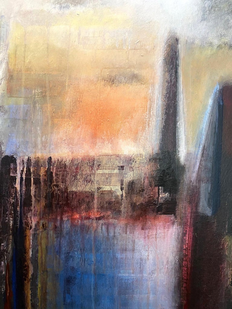 Stunning abstract painting by Brazilian artist Ivanilde Brunow called
