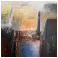 "Ivanilde Brunow Abstract Painting ""Paris at Dusk"""