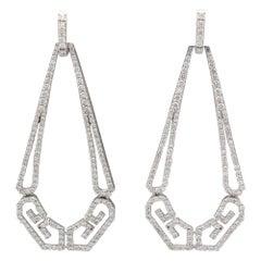 Ivanka Trump Diamond and 18 Karat White Gold Drop Earrings