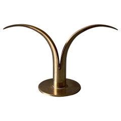 Ivar Ålenius Björk Brass Candleholder for Ystad Metall