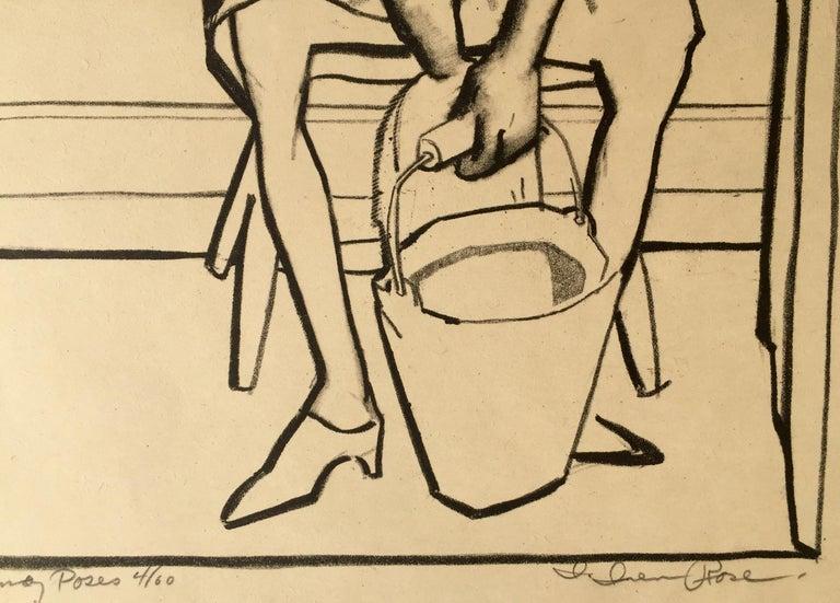 Nanay Poses - American Modern Print by Iver Rose
