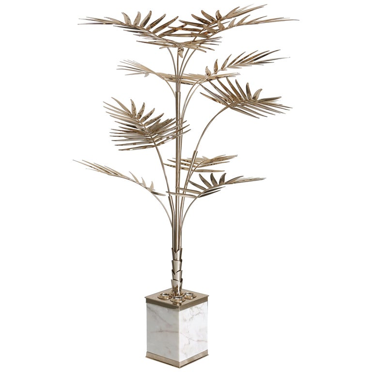 92910cb58233a Ivete Palm Tree Floor Lamp in Brass with Marble Base by Essential Home For  Sale. Ivete is a midcentury floor lamp that shaped ...