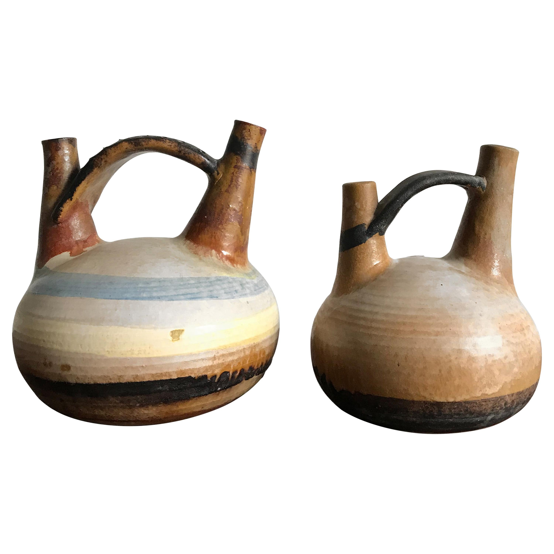 Ivo Sassi Italian Mid-Century Modern Design Ceramic Vases Set, 1950s
