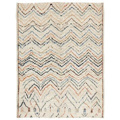 Ivory Abstract Geometric Design Berber Style Rug